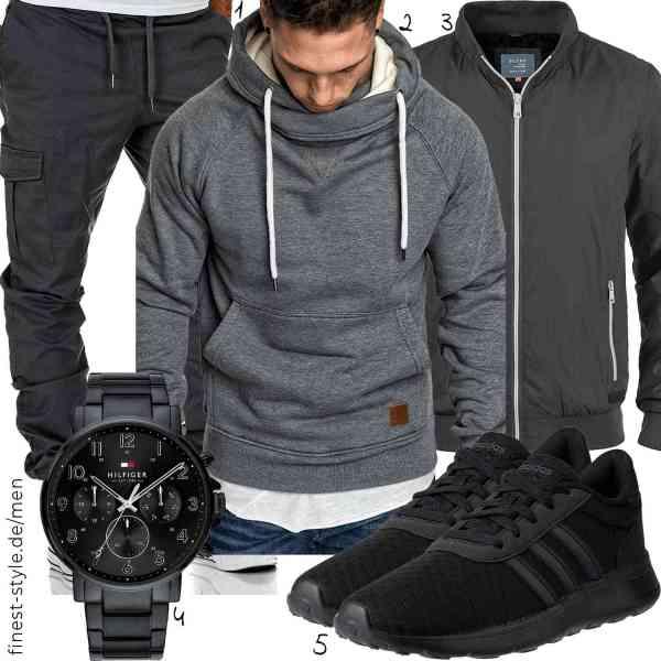 Top herren-Outfit im Finest-Trend-Style für ein selbstbewusstes Modegefühl mit tollen Produkten von Amaci&Sons,Amaci&Sons,Blend,Tommy Hilfiger,adidas