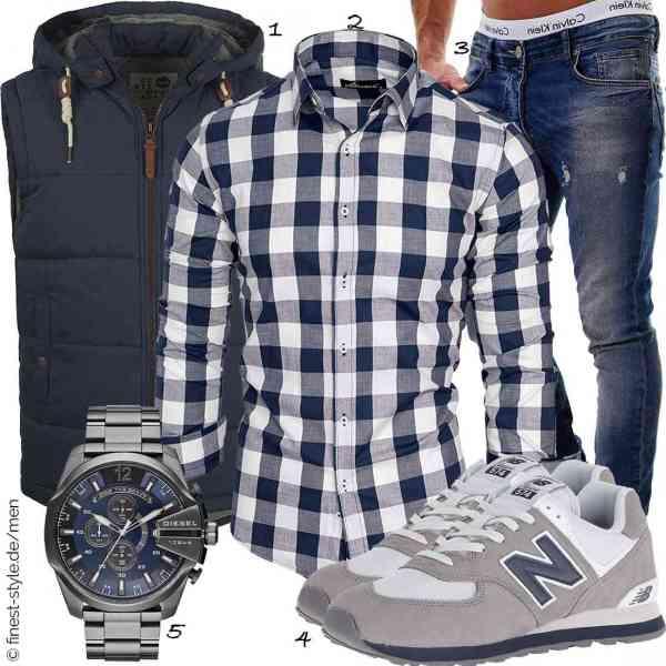 Top herren-Outfit im Finest-Trend-Style für ein selbstbewusstes Modegefühl mit tollen Produkten von !Solid,Amaci&Sons,MERISH,New Balance,Diesel