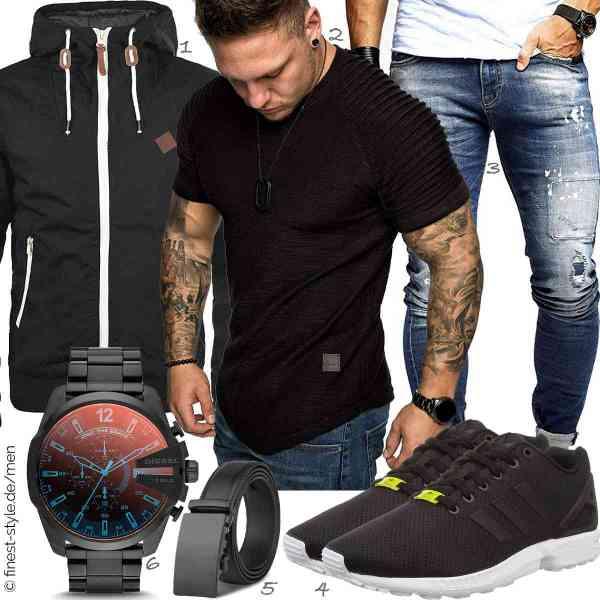 Top herren-Outfit im Finest-Trend-Style für ein selbstbewusstes Modegefühl mit tollen Produkten von !Solid,REPUBLIX,Leif Nelson,adidas,M.R,Diesel