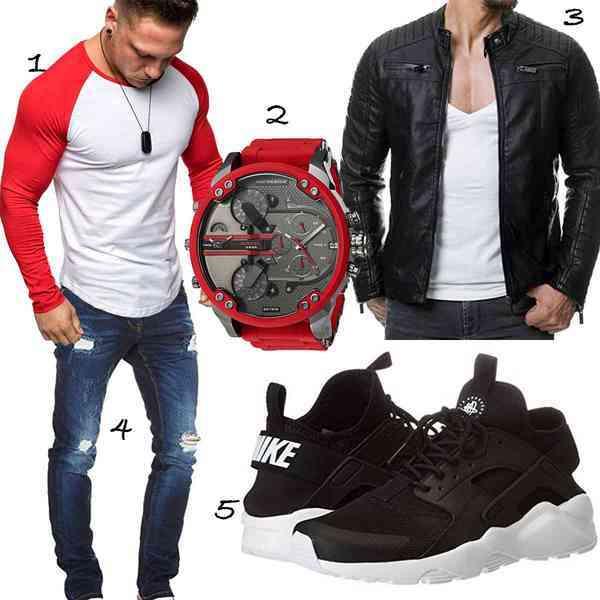 Top herren-Outfit im Finest-Trend-Style für ein selbstbewusstes Modegefühl mit tollen Produkten von ,,,,