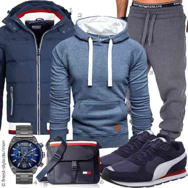 Top herren-Outfit im Finest-Trend-Style für ein selbstbewusstes Modegefühl mit tollen Produkten von Indicode,Amaci&Sons,REPUBLIX,Diesel,Tommy Hilfiger,PUMA