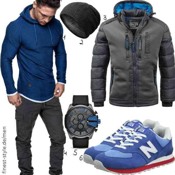 Top herren-Outfit im Finest-Trend-Style für ein selbstbewusstes Modegefühl mit tollen Produkten von Amaci&Sons,Amaci&Sons,Geographical_UD,Amaci&Sons,Diesel,New Balance