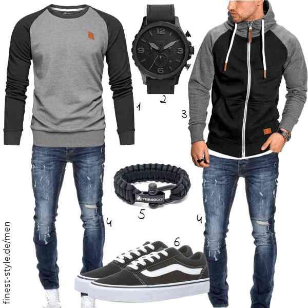 Top herren-Outfit im Finest-Trend-Style für ein selbstbewusstes Modegefühl mit tollen Produkten von Amaci&Sons,Fossil,Rello & Reese,Amaci&Sons,Steinbock7,Vans