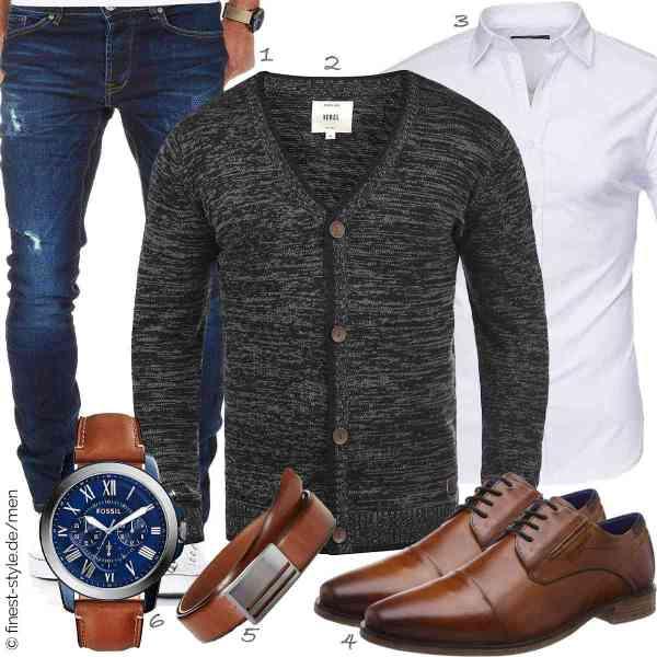 Top herren-Outfit im Finest-Trend-Style für ein selbstbewusstes Modegefühl mit tollen Produkten von Amaci&Sons,Redefined Rebel,Kayhan,bugatti,MLT Belts & Accessoires,Fossil