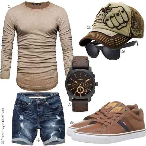 Top herren-Outfit im Finest-Trend-Style für ein selbstbewusstes Modegefühl mit tollen Produkten von REPUBLIX,FORH-Hut,La Optica B.L.M.,Amaci&Sons,Fossil,Levis