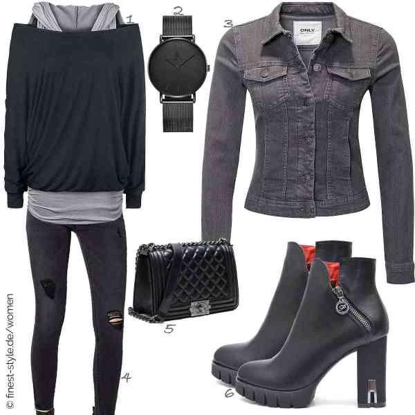 Top herren-Outfit im Finest-Trend-Style für ein selbstbewusstes Modegefühl mit tollen Produkten von Black Premium by EMP,Alienwork,ONLY,ONLY,S Lady Totes,Vain Secrets