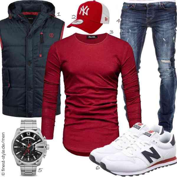 Top herren-Outfit im Finest-Trend-Style für ein selbstbewusstes Modegefühl mit tollen Produkten von !Solid,New Era,REPUBLIX,Amaci&Sons,Diesel,New Balance
