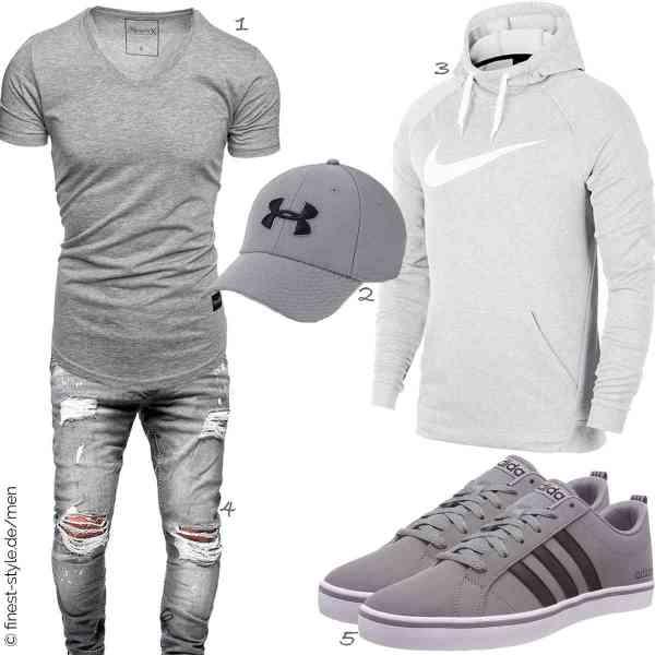 Top herren-Outfit im Finest-Trend-Style für ein selbstbewusstes Modegefühl mit tollen Produkten von REPUBLIX,Under Armour,Nike,behype.,adidas