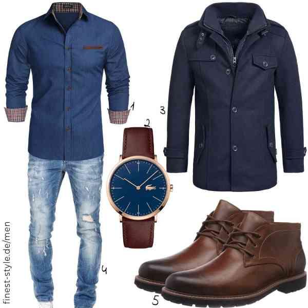Top herren-Outfit im Finest-Trend-Style für ein selbstbewusstes Modegefühl mit tollen Produkten von COOFANDY,Lacoste,Indicode,Amaci&Sons,Clarks