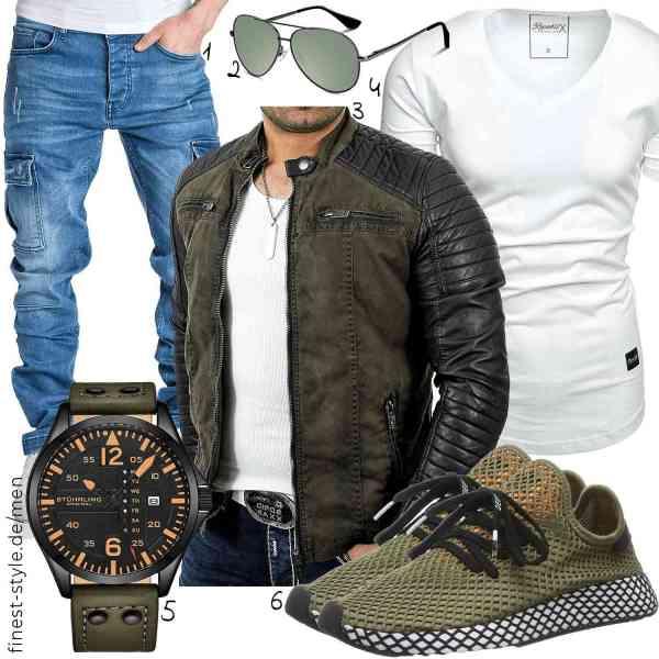 Top herren-Outfit im Finest-Trend-Style für ein selbstbewusstes Modegefühl mit tollen Produkten von ,,,REPUBLIX,,adidas