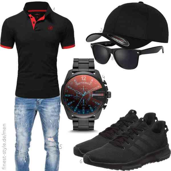 Top herren-Outfit im Finest-Trend-Style für ein selbstbewusstes Modegefühl mit tollen Produkten von ,Flexfit,La Optica B.L.M.,Amaci&Sons,Diesel,