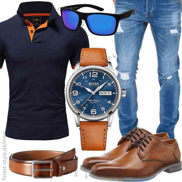 Top herren-Outfit im Finest-Trend-Style für ein selbstbewusstes Modegefühl mit tollen Produkten von Amaci&Sons,,Hugo Boss,Amaci&Sons,MLT Belts & Accessoires,
