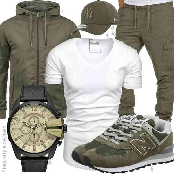 Top herren-Outfit im Finest-Trend-Style für ein selbstbewusstes Modegefühl mit tollen Produkten von ,,REPUBLIX,Amaci&Sons,,New Balance