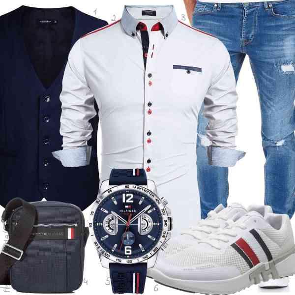 Top herren-Outfit im Finest-Trend-Style für ein selbstbewusstes Modegefühl mit tollen Produkten von ,,Amaci&Sons,,Tommy Hilfiger,