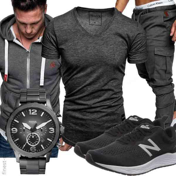 Top herren-Outfit im Finest-Trend-Style für ein selbstbewusstes Modegefühl mit tollen Produkten von Amaci&Sons,REPUBLIX,,Fossil,