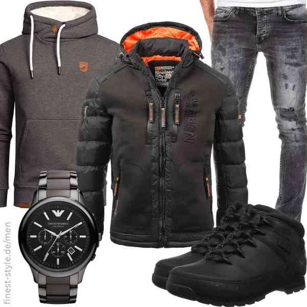Top herren-Outfit im Finest-Trend-Style für ein selbstbewusstes Modegefühl mit tollen Produkten von ,,,Emporio Armani,