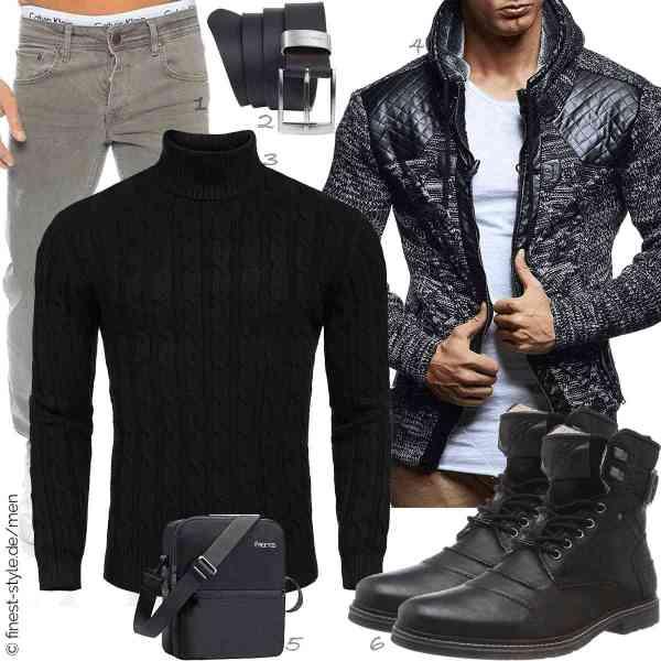 Top herren-Outfit im Finest-Trend-Style für ein selbstbewusstes Modegefühl mit tollen Produkten von Rock Creek,Pierre Cardin,COOFANDY,Leif Nelson,FREETOO,bugatti