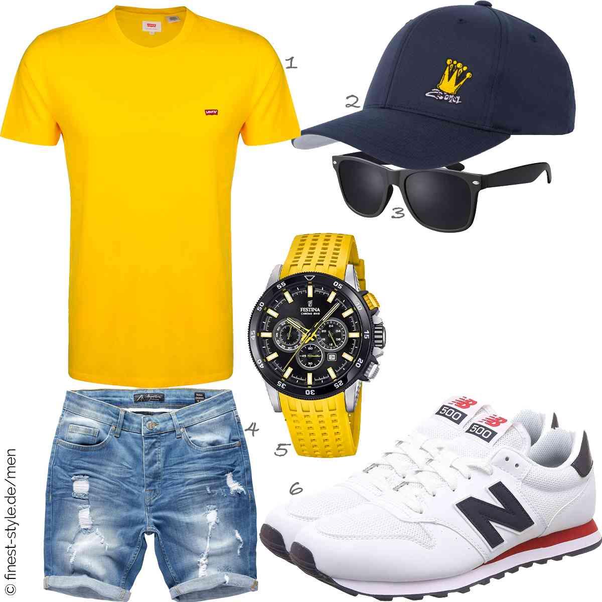 Top Herren-Outfit im Finest-Trend-Style für ein selbstbewusstes Modegefühl mit tollen Produkten von Levis ,2Stoned,La Optica B.L.M.,Amaci&Sons,Festina,New Balance