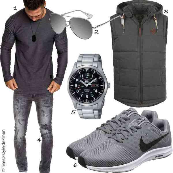 Top Herren-Outfit im Finest-Trend-Style für ein selbstbewusstes Modegefühl mit tollen Produkten von Amaci&Sons,VVA,!Solid,Amaci&Sons,Seiko,Nike
