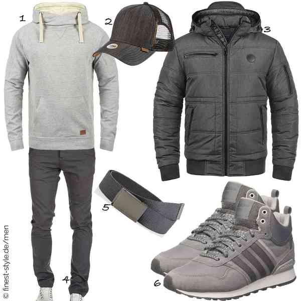 Top Herren-Outfit im Finest-Trend-Style für ein selbstbewusstes Modegefühl mit tollen Produkten von Blend,Djinns,Blend,Amaci&Sons,Urban Classics,adidas