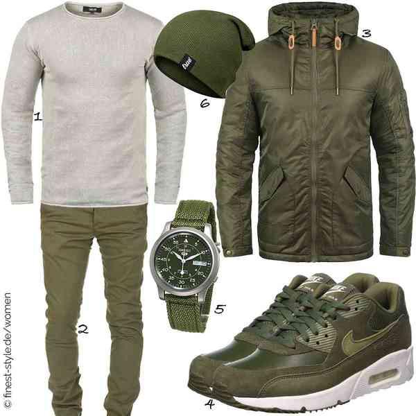 Top Herren-Outfit im Finest-Trend-Style für ein selbstbewusstes Modegefühl mit tollen Produkten von !Solid,Amaci&Sons,Redefined Rebel,NIKE,Seiko,True Vision