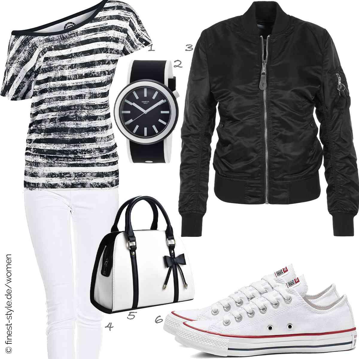 Top Herren-Outfit im Finest-Trend-Style für ein selbstbewusstes Modegefühl mit tollen Produkten von RED by EMP,Swatch,Alpha Industries,ONLY,COOFIT,Converse