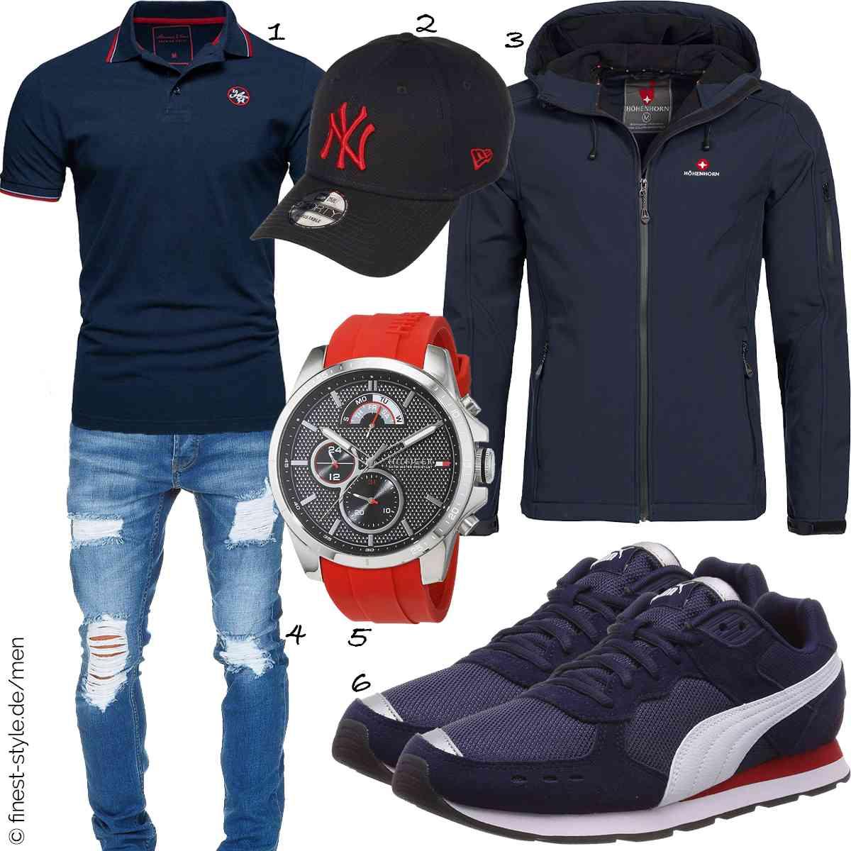Top Herren-Outfit im Finest-Trend-Style für ein selbstbewusstes Modegefühl mit tollen Produkten von Amaci&Sons,Unbekannt,Höhenhorn,Amaci&Sons,Tommy Hilfiger,Puma
