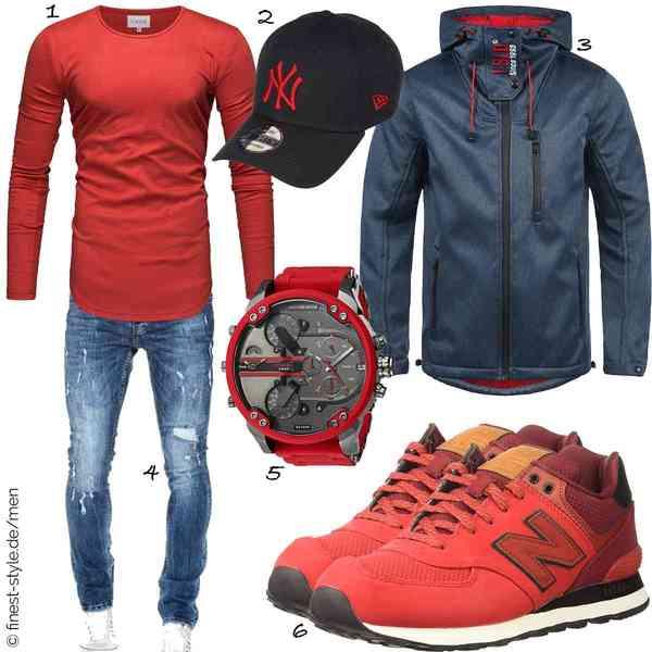 Top Herren-Outfit im Finest-Trend-Style für ein selbstbewusstes Modegefühl mit tollen Produkten von Crone,Unbekannt,!Solid,Amaci&Sons,Diesel,New Balance
