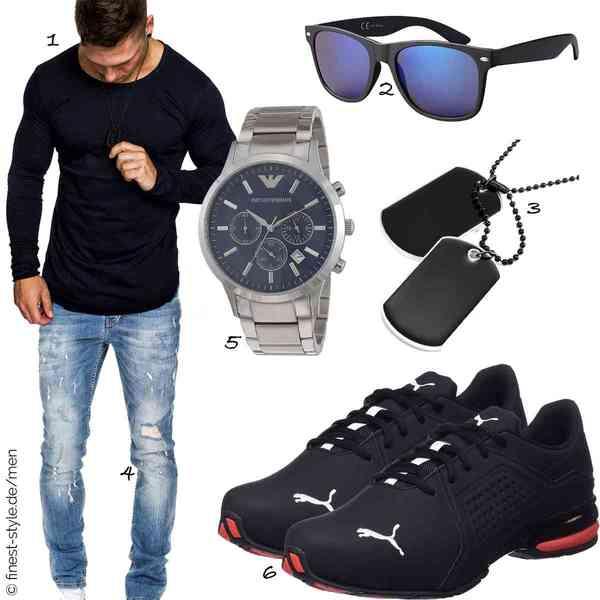 Top Herren-Outfit im Finest-Trend-Style für ein selbstbewusstes Modegefühl mit tollen Produkten von Amaci&Sons,La Optica B.L.M.,Urban-Jewelry,Amaci&Sons,Emporio Armani,Puma