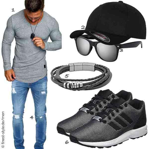 Top Herren-Outfit im Finest-Trend-Style für ein selbstbewusstes Modegefühl mit tollen Produkten von Amaci&Sons,Flexfit,La Optica B.L.M.,Amaci&Sons,Fossil,adidas