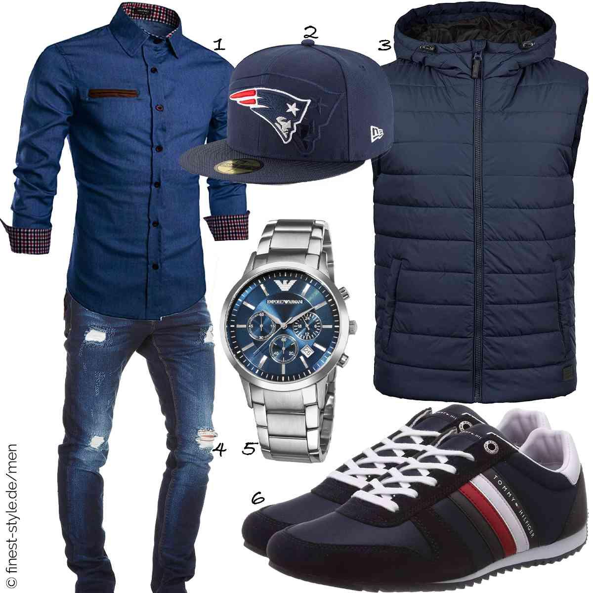 Top Herren-Outfit im Finest-Trend-Style für ein selbstbewusstes Modegefühl mit tollen Produkten von Coofandy,New Era,Blend,Amaci&Sons,RTH Sales,Tommy Hilfiger