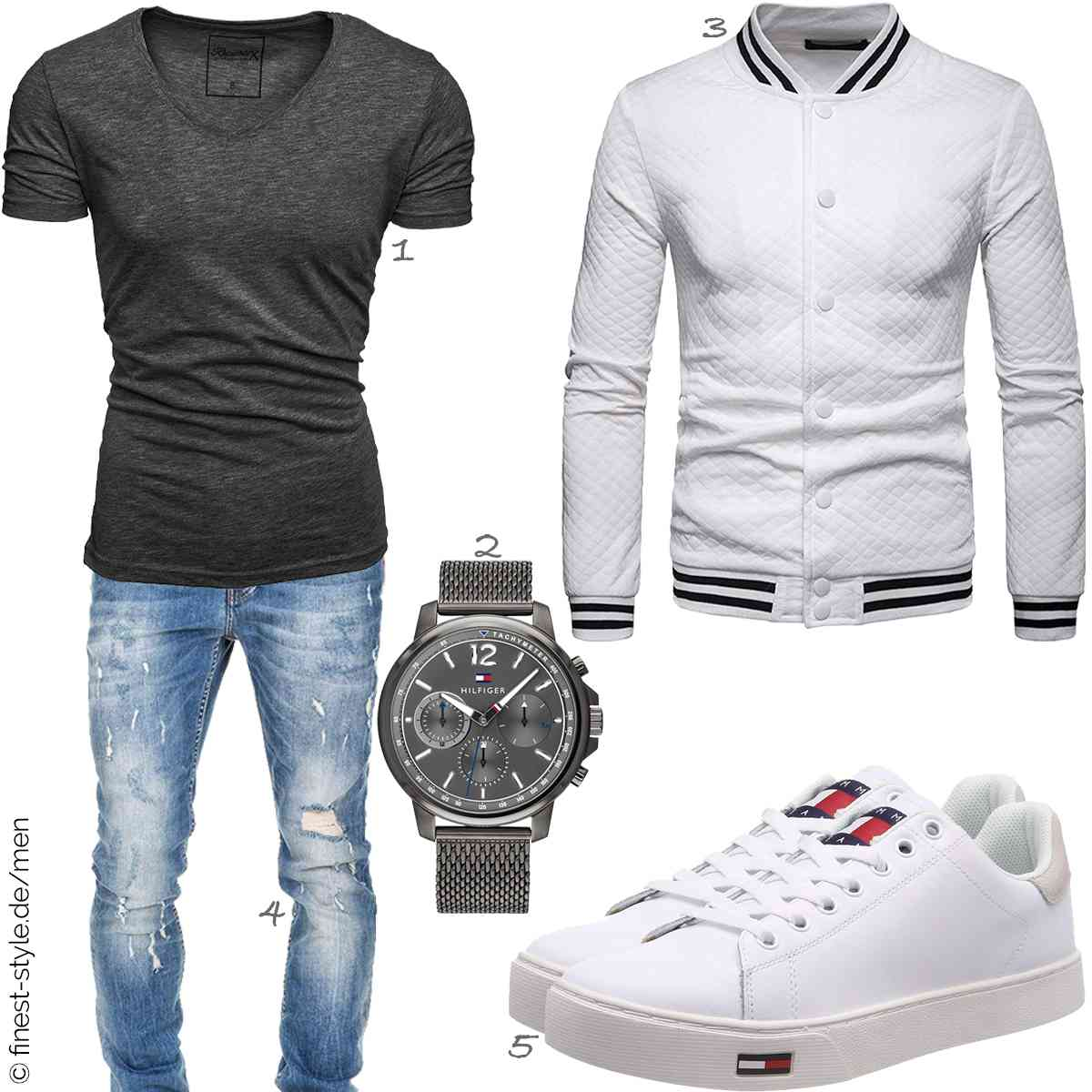 Top Herren-Outfit im Finest-Trend-Style für ein selbstbewusstes Modegefühl mit tollen Produkten von REPUBLIX,Tommy Hilfiger,WHATLEES,Amaci&Sons,Hilfiger Denim