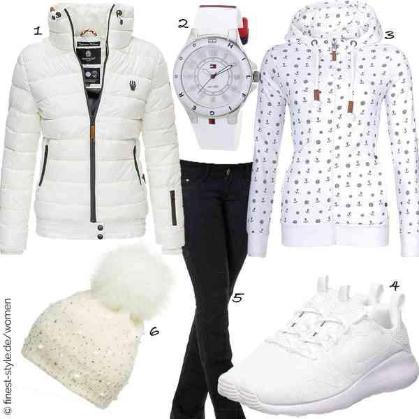 Top Damen-Outfit im Finest-Trend-Style für ein selbstbewusstes Modegefühl mit tollen Produkten von Marikoo,Tommy Hilfiger,Newbestyle,NIKE,Daleus,CASPAR Fashion