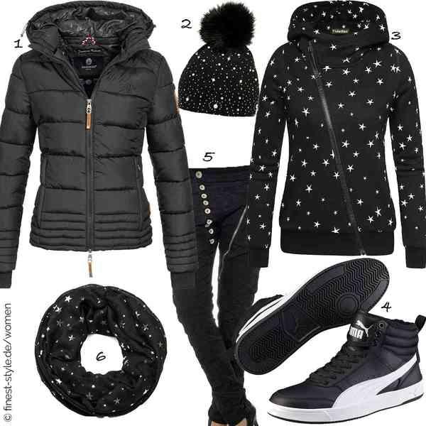 Top Damen-Outfit im Finest-Trend-Style für ein selbstbewusstes Modegefühl mit tollen Produkten von Marikoo,CASPAR Fashion,Ehpow,Puma,Daleus,styleBREAKER