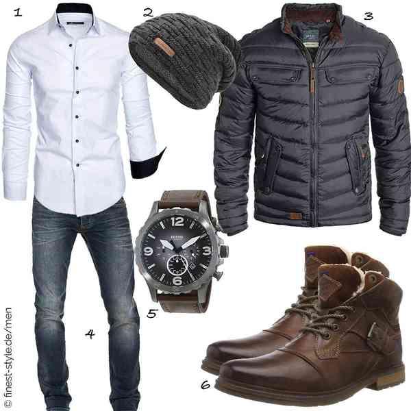 Top Herren-Outfit im Finest-Trend-Style für ein selbstbewusstes Modegefühl mit tollen Produkten von Amaci&Sons,urban ace,Blend,WOTEGA,Fossil,Bugatti