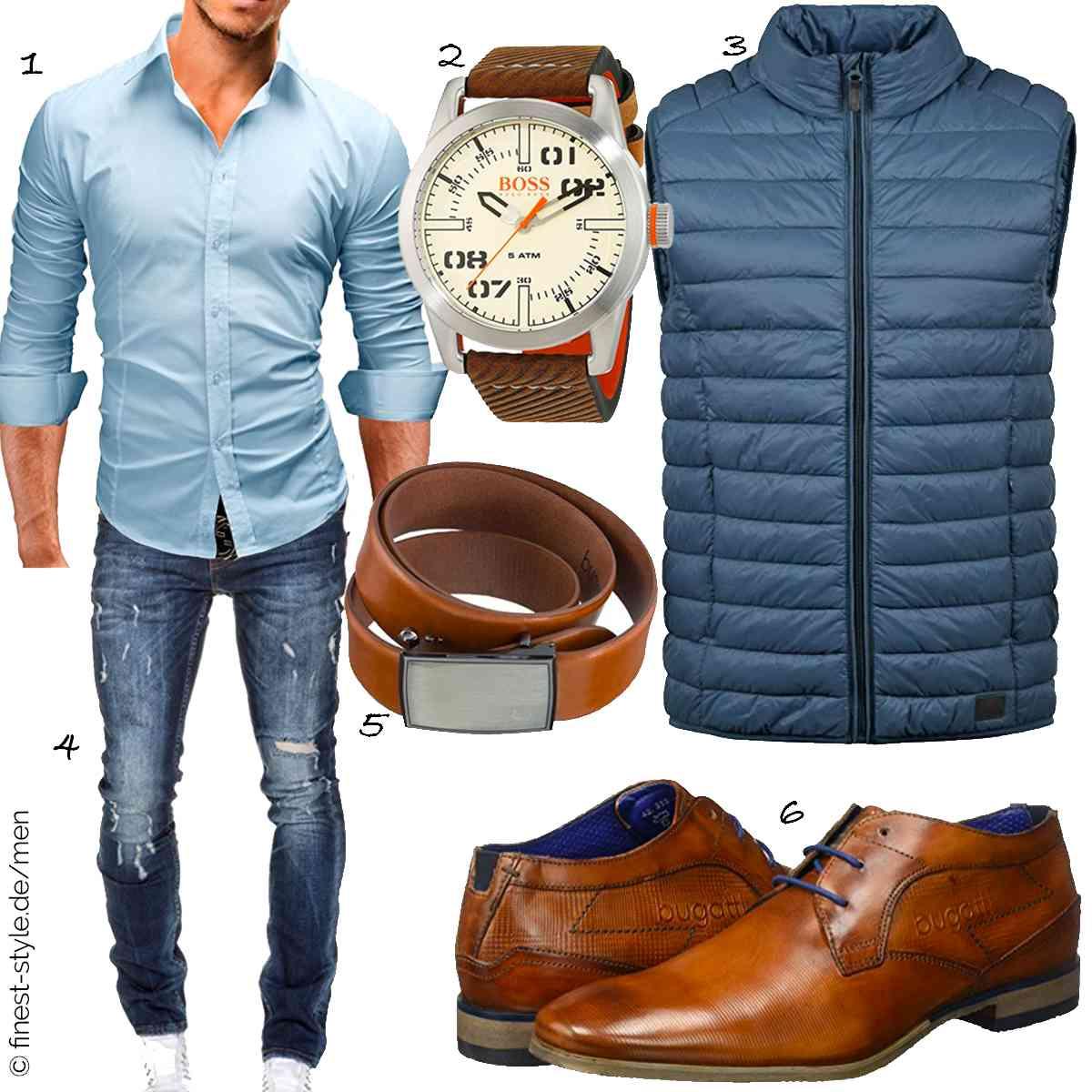 Top Herren-Outfit im Finest-Trend-Style für ein selbstbewusstes Modegefühl mit tollen Produkten von MERISH,Hugo Boss Orange,Blend,Amaci&Sons,Bugatti,Bugatti