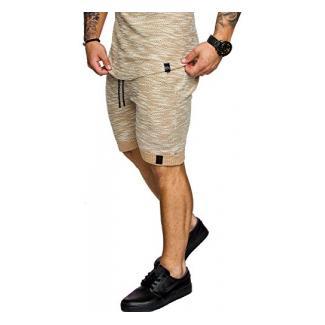 Amaci&Sons Herren Bermuda Shorts Sweatshorts 8002 Beige S