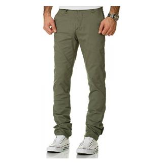 Amaci&Sons Herren Regular Slim Strech Chino Hose Fit 7009-10 Olive W36/L32