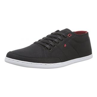 Boxfresh Sparko ICN Rip NYL, Herren Sneakers, Schwarz (Black/Chilli Red), 43 EU (9 UK)