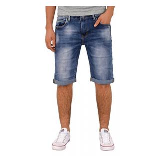 by-tex Herren Jeans Shorts kurze Bermuda Shorts Used Look kurze Hose Basic Jeans Shorts AS431