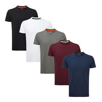 Charles Wilson 5er Packung Einfarbige T-Shirts mit Rundhalsausschnitt (Large, Basics)