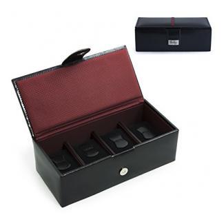 Cordays -Herren Uhrenbox in Leder – Premium Qualität – für 4 Uhren mit grossem Ziffernblatt CDM-00001