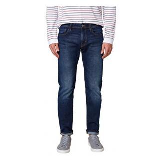 edc by ESPRIT Herren Straight Jeans 028CC2B007, Blau (Blue Dark Wash 901), 38/30