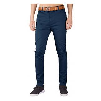 Italy Morn Herren Chino Hose Slim fit Stoff hose Chinohose Pants S Marine Blau