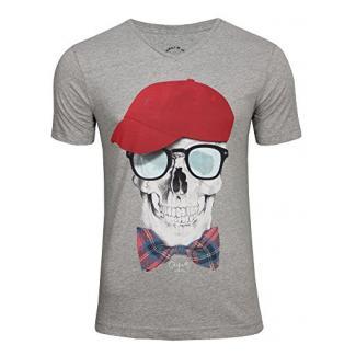 JACK & JONES Herren T-Shirt Bunny Head Tee V-neck Exp Org