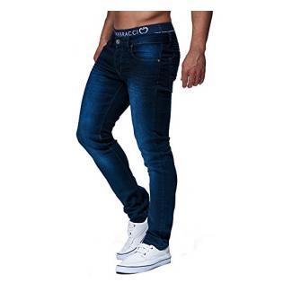 LEIF NELSON Herren Hose Jeans Jeanshose Freizeithose Denim LN303; W38L32, Blau