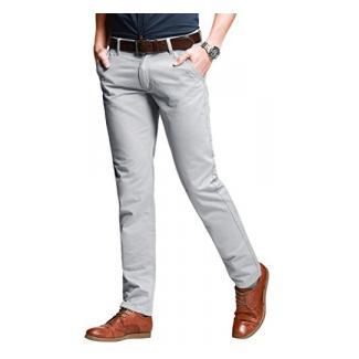 Match Herren Slim-Tapered Flat-Front Casual Hose #8050(8050 Licht grau,34)