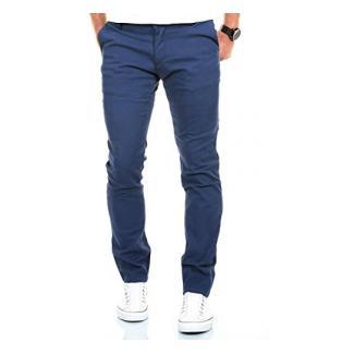 MERISH Chino Stoffhose Slim Fit Herren Figurbetont viele Farben Modell 169 Hellblau 36-30