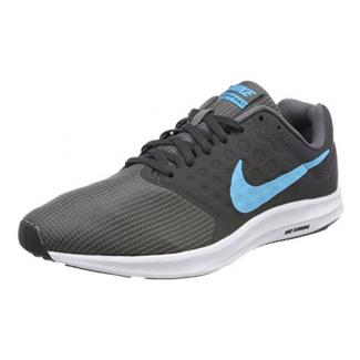 Nike Herren Downshifter 7 Laufschuhe, Grau (Dark Grey/Anthracite/Black/Blue Fury), 40 EU