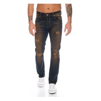 Rock Creek Herren Jeans Dirty Wash RC-329 [W30 L34]